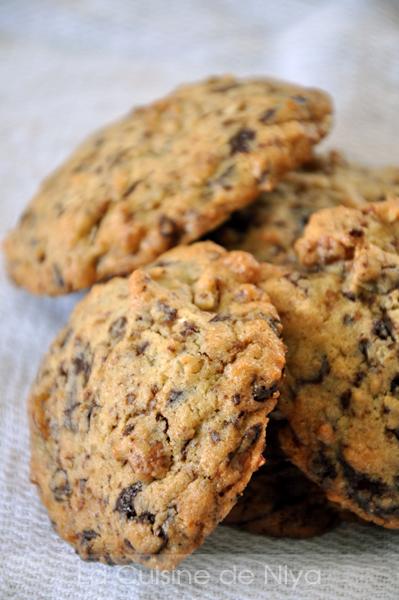 Cookies au chocolat et aux noisettes