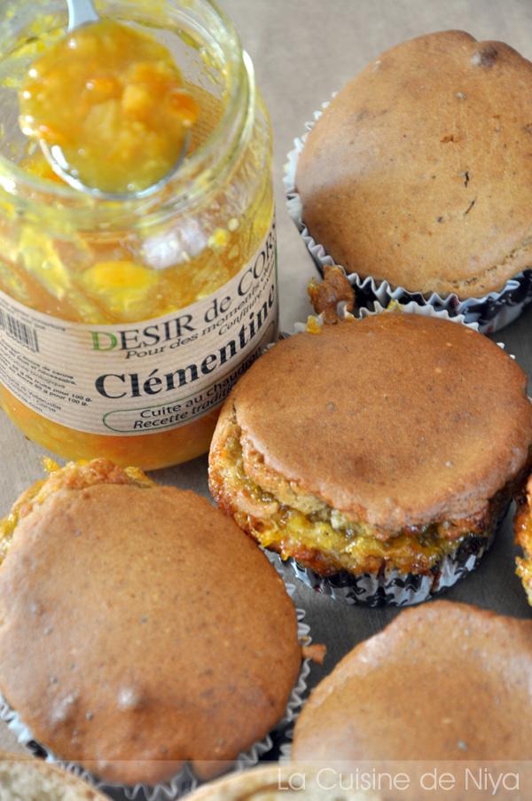 La Cuisine de Niya - Muffins à la confiture de clémentine corse #vegan #bio