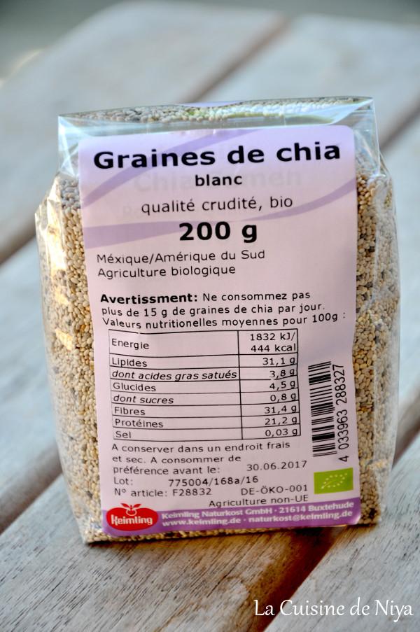 La Cuisine de Niya - Partenariat - Keimling - Graines de chia