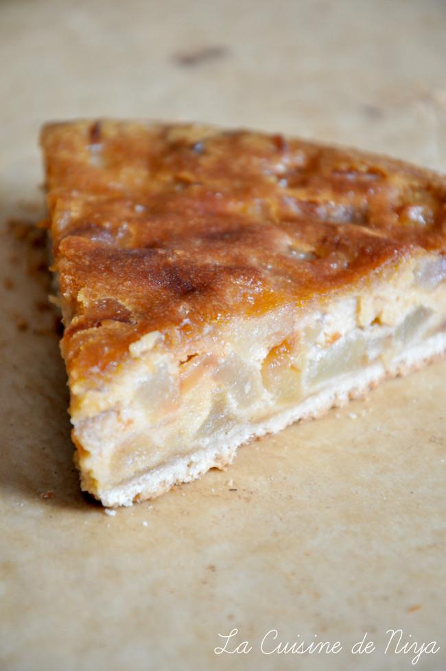 La Cuisine de Niya - Tarte pommes caramel amande - vegan