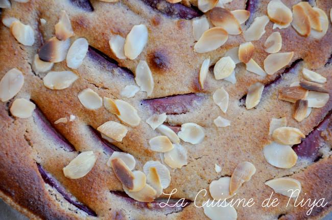 La Cuisine de Niya - Tarte amandine à la nectarine vegan