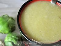 Soupe aux choux de Bruxelles [vegan]