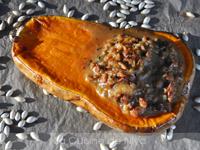 Courge butternut farcie (et graines de courge grillées) [vegan]