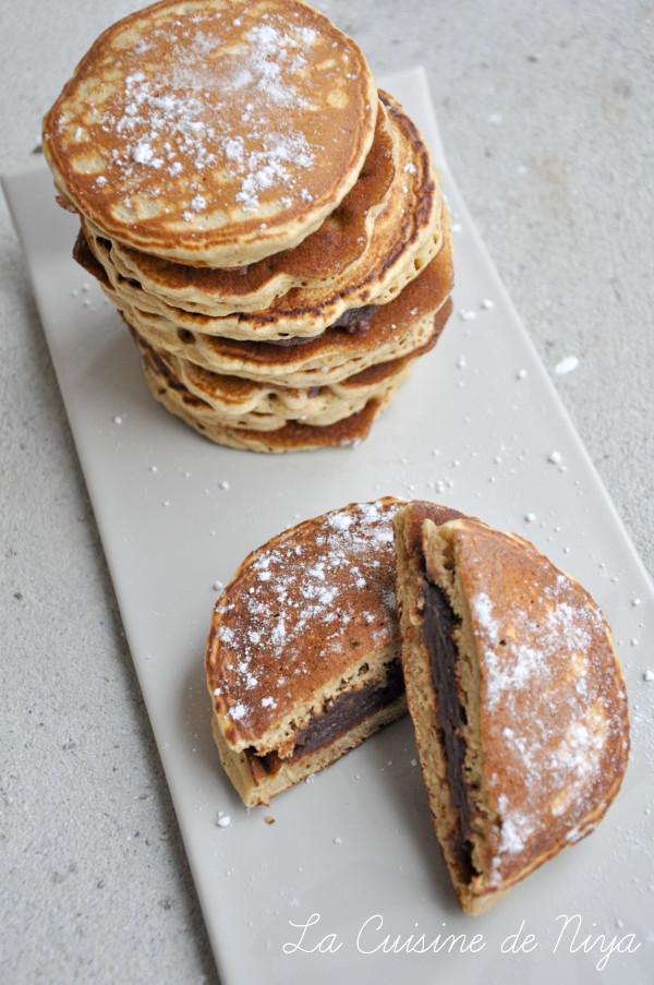 Dorayakis ou Pancakes japonais fourrés à la pâte de haricots rouges azukis sucrée [vegan]